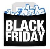 A compra de Black Friday gosta Foto de Stock Royalty Free