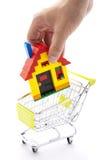 Compra de casa Imágenes de archivo libres de regalías