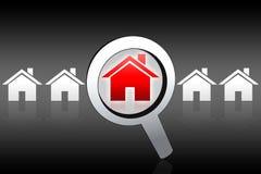 Compra de casa que procurara o conceito Ilustração do Vetor