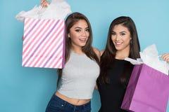 Compra de dois adolescentes fotos de stock royalty free