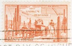 Compra de Gadsen de 1953 selos Imagem de Stock Royalty Free