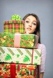 Compra de la Navidad fotografía de archivo