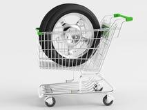 Compra de ruedas automotoras Fotos de archivo libres de regalías