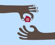 Compra de una casa ilustración del vector