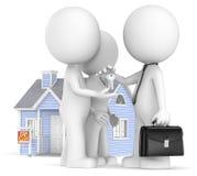 Compra de una casa. Fotos de archivo