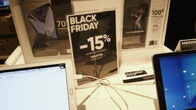 Compra del POV durante la tableta de Black Friday Samsung almacen de video