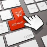 Compra del teclado ahora Imagen de archivo libre de regalías
