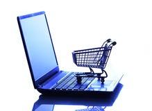 Compra do comércio eletrônico Fotografia de Stock Royalty Free
