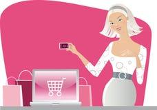 Compra do Internet Foto de Stock