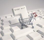 Compra do Internet ilustração stock