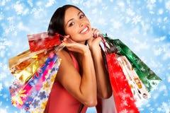 Compra do Natal Imagem de Stock Royalty Free