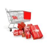 Compra do Natal Fotografia de Stock Royalty Free