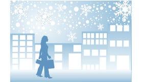 Compra do Natal Imagem de Stock