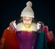 Compra do Natal Imagens de Stock