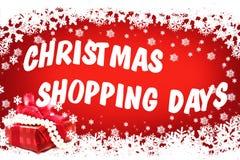 Compra do Natal! imagens de stock