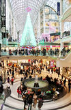 Compra do Natal do centro de Toronto Eaton Fotografia de Stock