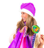 Compra do Natal, idéia para seu projeto Fotos de Stock Royalty Free