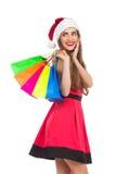 Compra do Natal, idéia para seu projeto Fotografia de Stock