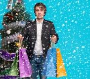 Compra do Natal, idéia para seu projeto Imagens de Stock Royalty Free
