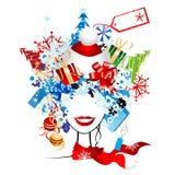 Compra do Natal, idéia para seu projeto ilustração royalty free