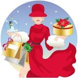 Compra do Natal, idéia para seu projeto Fotografia de Stock Royalty Free