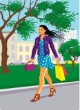 Compra do verão ilustração royalty free