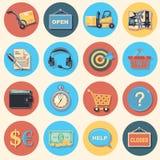 Compra e logístico ilustração stock