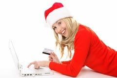 Compra e operação bancária em linha fáceis e seguras fotografia de stock