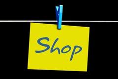 Compra em linha fotografia de stock