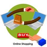 Compra em linha Imagens de Stock Royalty Free