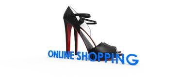 Compra em linha Foto de Stock