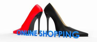 Compra em linha Foto de Stock Royalty Free