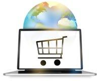 Compra em linha global Imagens de Stock