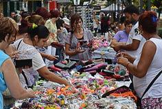 Compra em tendas ao ar livre em Bucareste Romênia Fotos de Stock