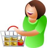 Compra feliz ilustração stock