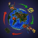 Compra global Imagens de Stock
