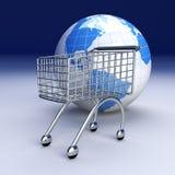 Compra global ilustração royalty free