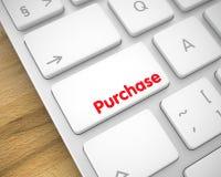 Compra - inscrição no teclado branco do teclado 3d Foto de Stock
