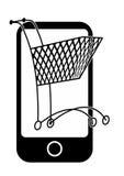 Compra móvel ilustração royalty free