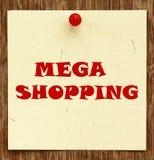 COMPRA MEGA escrita observação Imagem de Stock Royalty Free