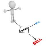Compra ou venda de comércio Imagem de Stock Royalty Free