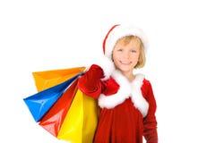 Compra pequena bonito de Santa Imagens de Stock