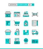 Compra, retalho, entrega, vale-oferta, disconto e mais planície ilustração stock