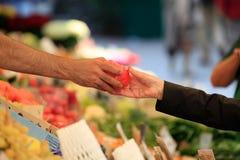 Compra vegetal do mercado imagens de stock royalty free