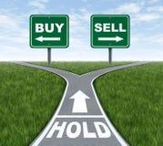 Compra-vendita o stretta Immagine Stock