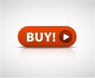 A compra vermelha grande abotoa-se agora Imagens de Stock Royalty Free