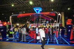 Comprador 2008 de Gitex - esquina del juego de Acer Foto de archivo libre de regalías