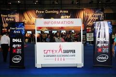 Comprador 2008 de Gitex - información en área del juego fotos de archivo libres de regalías