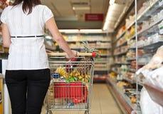 Comprador del supermercado Fotografía de archivo