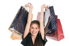 Comprador feliz Fotos de archivo libres de regalías